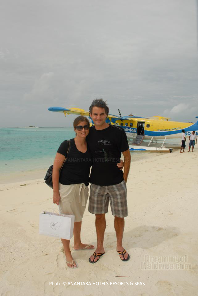 Tennis super Champion Roger Federer in Maldives