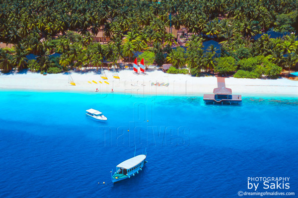 Royal island Maldives aerial view photo gallery