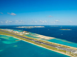 runway Maldives airport View on the most beautiful runway airport in the World.
