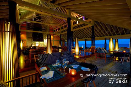 Salt Restaurant at Anantara Kihavah Villas