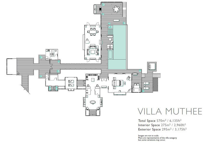 Shangri La Villingili Maldives - Villa Muthee Floorplan