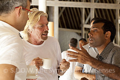 President Mohamed Nasheed and Sir Richard Branson at Soneva Fushi's SLOW LIFE Symposium
