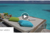 The Daily Teeny-Tiny Video. Six Senses Laamu. 15 Seconds on a Water Villa Deck