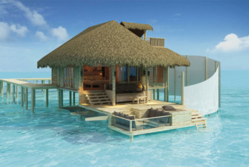 Opening of the Six Senses Laamu Resort in the Maldives in April 2011
