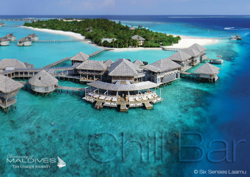 Six Senses Laamu Chill Bar Aerial view