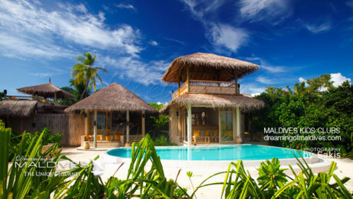 Some Resorts offer Family Villas Ideal for perfect Holidays like here at Six Senses Laamu