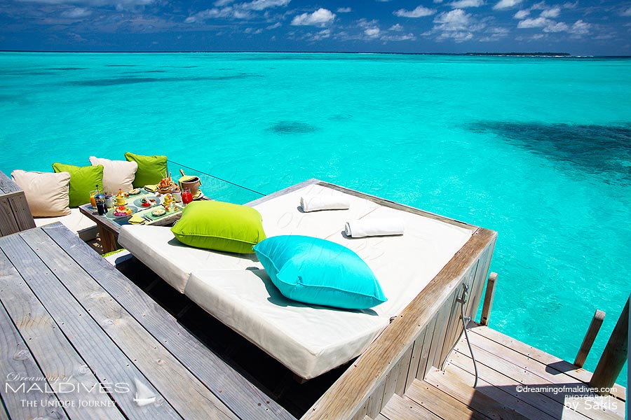 Six Senses Laamu Water Villa - The deck
