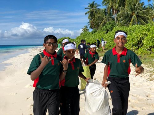 Six Senses Laamu in Action for many years against plastic