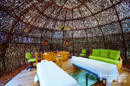 Six Senses Laamu SPA . Best Spa Design of the Year'. View of the Spa Room Treatment