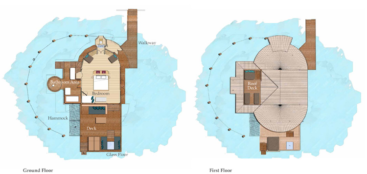 Six Senses Laamu Water Villa - Floorplan
