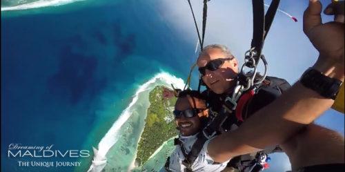 Sky Diving Maldives. Vidéo