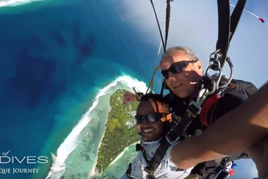Amazing Sky Diving in Maldives. Video