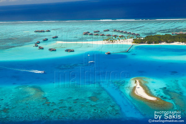 soneva gili maldives aerial view photo gallery