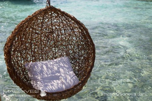 Soneva Jani water villas have a beautiful swinging chair on the deck (Soneva Unveils New Photos and Information about its Maldives New Resort Soneva Jani)
