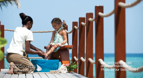 Maldives Family Hotel Four Seasons Kuda Huraa Spa Treatment for Kids