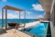 The St. Regis Maldives Vommuli Resort Overwater Suite with pool The deck with lagoon View