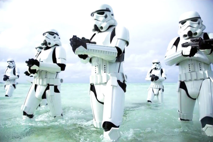 Shoretroopers played by Maldivian Soldiers Star Wars MAldives