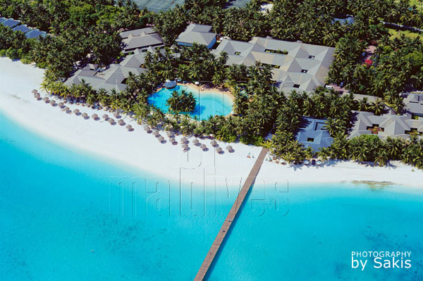sun island maldives aerial view photo gallery