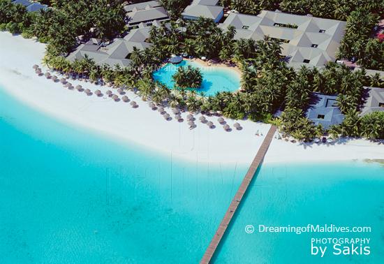 Sun Island Resort & Spa Maldives - 2012 Indian Ocean's Leading Green Resort. Aerial Photo