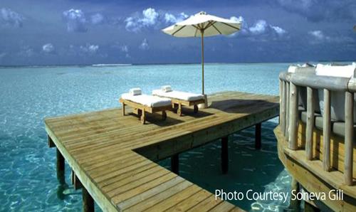 world largest water villa private reserve sundeck Gili Lankanfushi Maldives