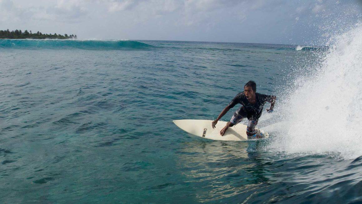 Surfing Yin Yang Maldives most famous wave south atolls Laamu
