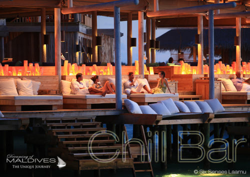 Sven Van Hees DJ Sessions performed over the lagoon at Six Senses Laamu Chill Bar MAldives