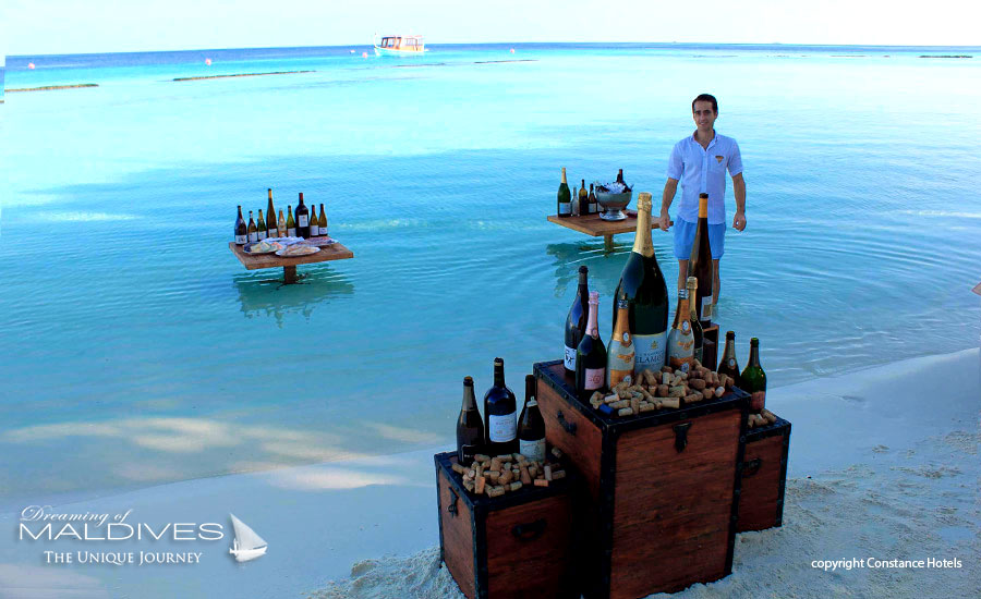 Things To Do In Maldives. Make a wine degustation in the lagoon