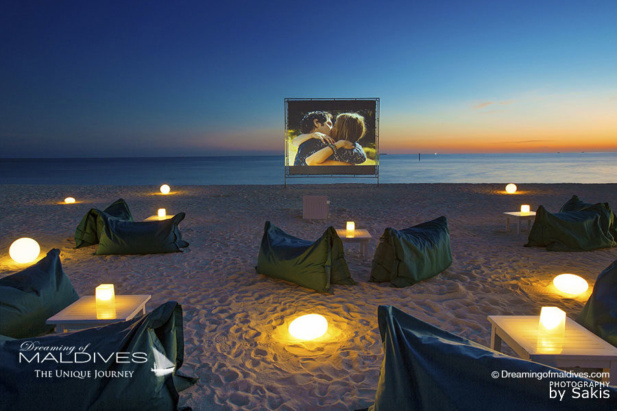 Things To Do in Maldives. Watch a Movie in a Open-Air Cinema on the Beach