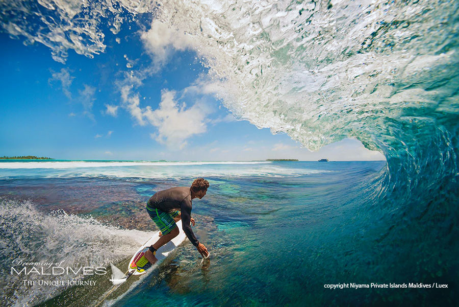 Things To Do In Maldives. Surf Gorgeous Waves
