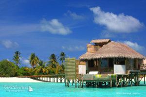 Surf Break Yin Yang at Luxury resort Six Senses Laamu