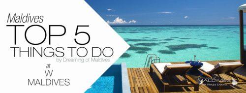 5 TOP Things To Do at W Maldives