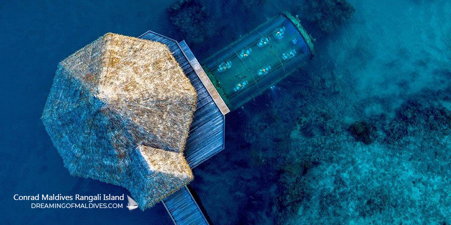 Aerial view of The Muraka Underwater Residence