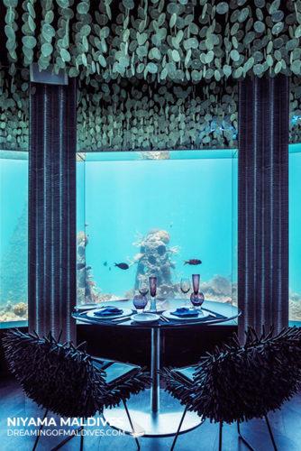 SUBSIX underwater restaurant & bar at Niyama Maldives
