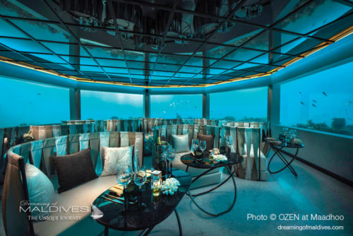 M6m underwater restaurant maldives at OZEN