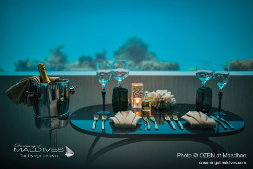 M6m underwater restaurant - OZEN at Maadhoo