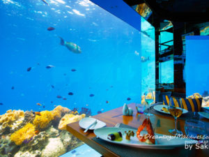 Dinner Underwater at Sea Anantara Kihavah Villas Maldives
