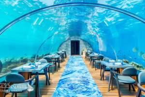 The Underwater Restaurant at Hurawalhi Maldives. The 5.8