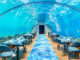 The underwater restaurant in Maldives Hurawalhi 5.8