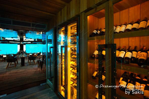 SEA Underwater Wine Cellar at Anantara Kihavah Villas Maldives