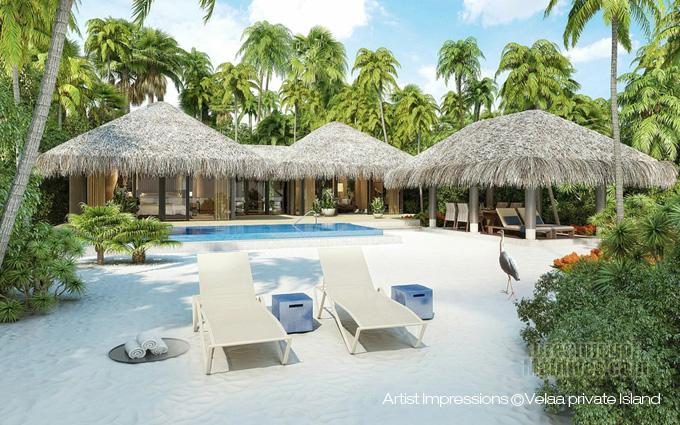 Velaa Private Island Deluxe Beach Pool Villa