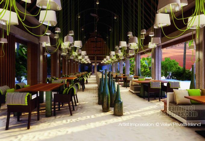 Velaa Private Island Restaurant Main