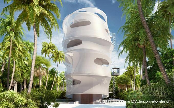 Velaa Private Island Tavaru Tower restaurant