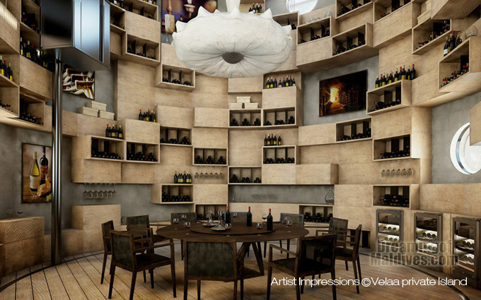 Velaa Private Island Wine Cellar