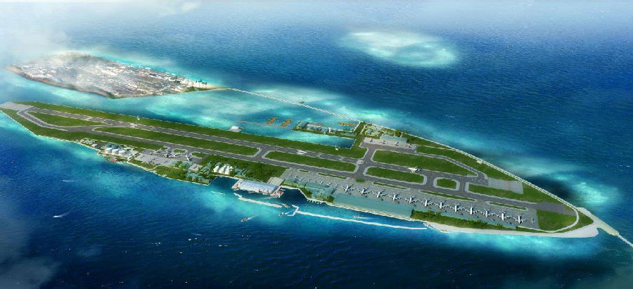 Velana Airport Runway. AFTER