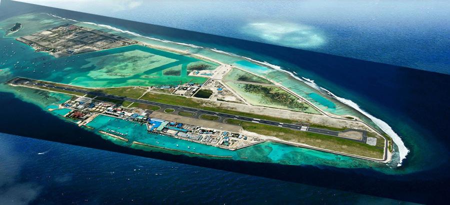 Velana Airport Runway. BEFORE