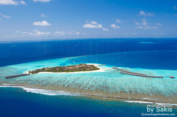 Velassaru Maldives aerial view photo gallery