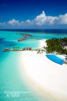 Dreaming of an Infinity Pool at Velassaru Maldives. Aerial Views on the Blue…