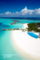 Velassaru Maldives aerial view infinity pool and beach