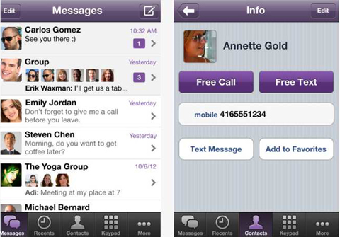 Viber app for iPhone and iPad