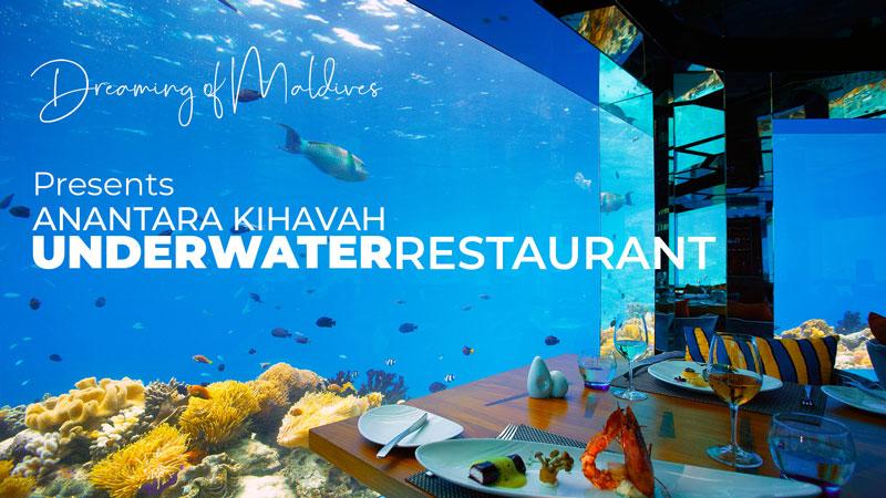 UNDERWATER RESTAURANT  KIHAVAH MALDIVES VIDEO